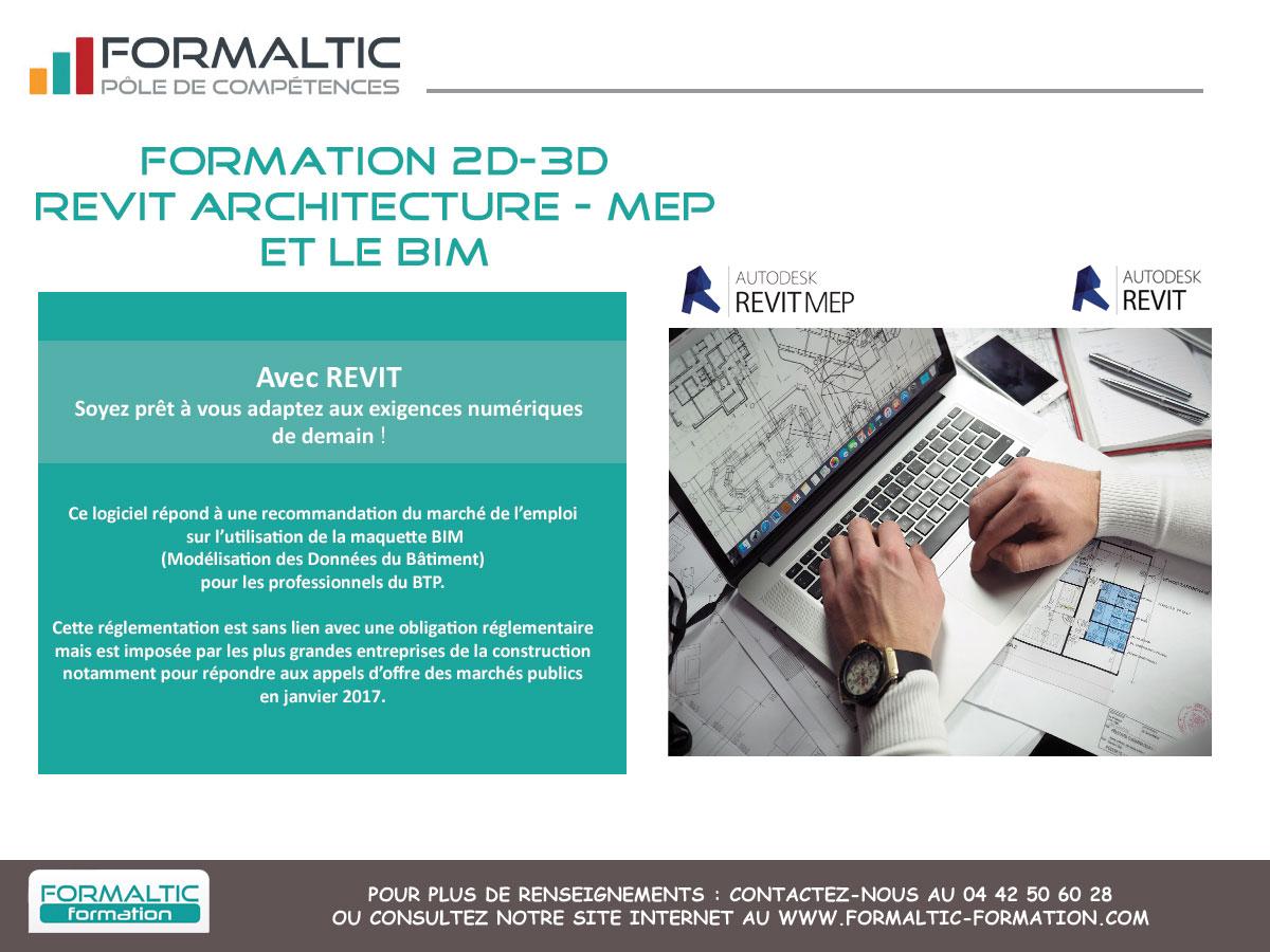 015ae2e5a6beaf Revit Archi Initiation - Perfectionnement - MEP et BIM Formaltic Formation
